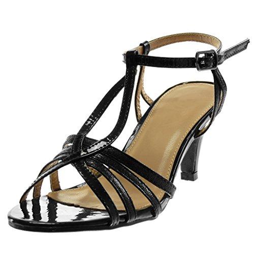 cm Chaussure Escarpin Noir Mode Angkorly Haut Femme Cheville Stiletto Brillant Grainé 8 Sandale Verni Salomés Talon Lanière Aiguille aTdwqxw5