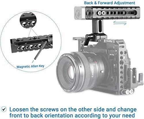 SMALLRIG NATO Clamp Handle with Shoe Mounts for Cameras, Camcorders, Action Cameras, Camera Cage – 1955