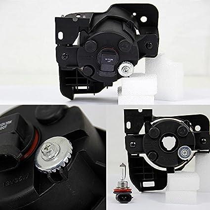 Bulbs For 09-14 Nissan Maxima A35 Black Bezel Smoked Lens Bumper Driving Fog Light W//Switch Wiring