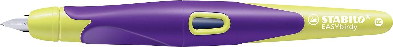 Stylo ergonomique rechargeable STABILO EASYbirdy Avec cl/é de r/églage Stylo plume Jaune//violet Droitier