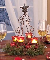 Christmas Tree Centerpiece-Red