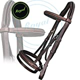 Runners Anti Pressure Cut Head Piece Raised Padded Bridle & PP Rubber Grip Reins./ Buffalo Leather./ Stainless Steel Buckles.