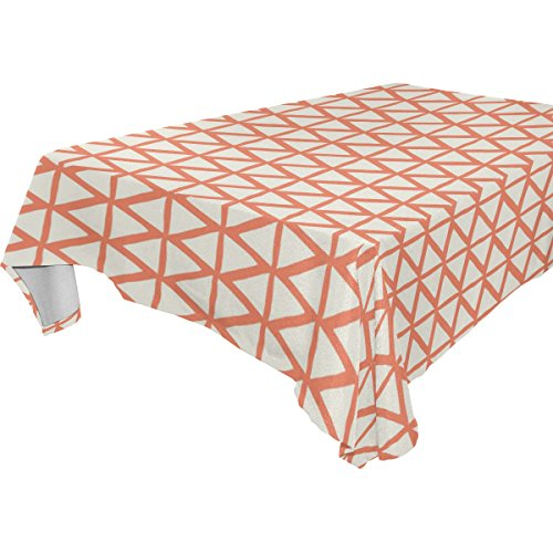 Yuihome Single Face Big Lattice Polyester Tablecloths 60 ...