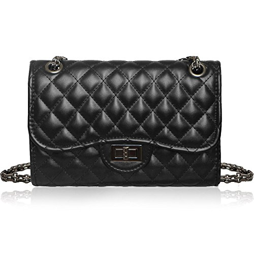 2e49c6d5d4 Solarfun Classic Crossbody Shoulder Bag for Women Quilted Purse With Metal  Chain Strap