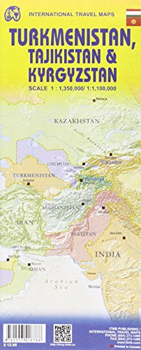 Turkmenistan, Tajikistan, Kyrgyzstan 1:1.35M/1.1M (English and French Edition)