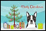 Caroline's Treasures BB1575MAT Christmas Tree and Boston Terrier Indoor or Outdoor Mat, 18″ x 27″, Multicolor Review