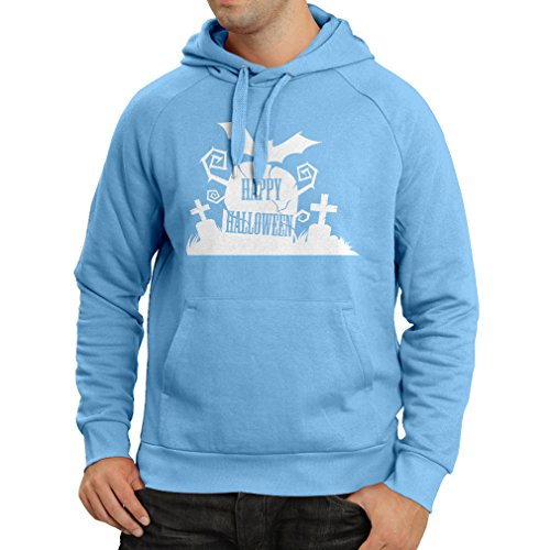Hoodie Halloween Graveyard Outifts - Costume Ideas - Cool Horror Design (X-Large Blue Multi Color)