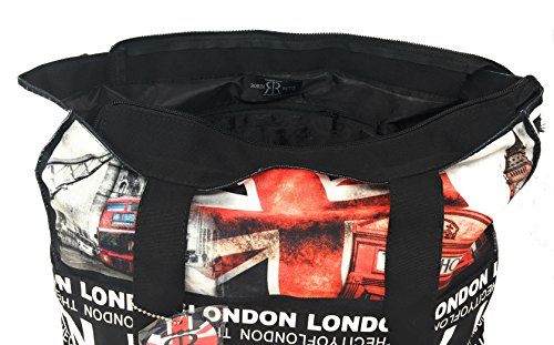 Ladies Bag Red London Ruth Black Robin and Photos Large Shopper vHqT4vZ