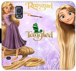 Rapunzel P8X5T Funda Samsung Galaxy Note 4 funda de cuero caja de la carpeta q4he5t fundas Case Equipo Móvil teléfono plegable rugosas