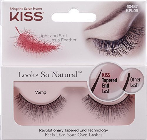 NEW KISS ''Looks So Natural'' VAMP Lashes (2-Pack) - KFL05 by Kiss by KISS