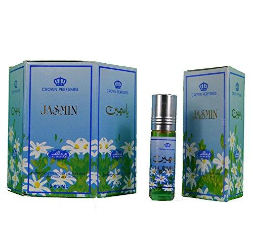 Caja de 6 perfúmenes Al Rehab de jazmín en aceite de 6 ml H-Distribution