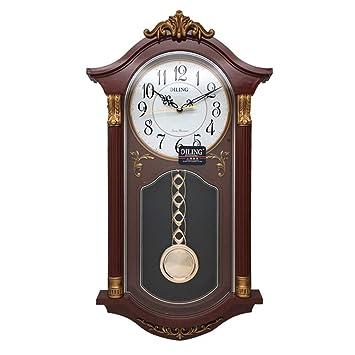 MRDEER Reloj De Pared Retro Reloj Vintage Reloj De Péndulo Relojes Antiguos De Campana Accesorios para El Hogar Decoración Hogar Salón Movimiento De Cuarzo ...