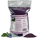 Wild Blueberry Powder-100% Whole Berry; No Pesticides, 6oz, Not A Concentrate, Extract, Juice Powder, Freeze-Dried, Nor A Bilberry, Small, Woman-Owned Company