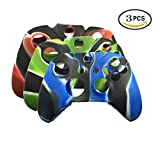 UUShop Camouflage Color Soft Silicone Thicker Skin Cover for Xbox One Controller Set 3 PCS(Camo)