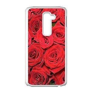 Custom Case Red Rose for LG G2 L2P4237475
