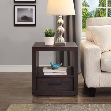 Better Homes and Garden Steele End Table, Espresso Finish Steele End Table, Espresso Finish