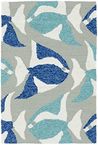 Kaleen Rugs Sea Isle Collection SEA10-17 Blue Handmade 2 x 3 Rug