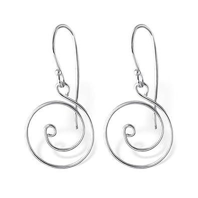 Silber Draht Spirale Schlicht Ohrringe: Royal Design: Amazon.de: Schmuck