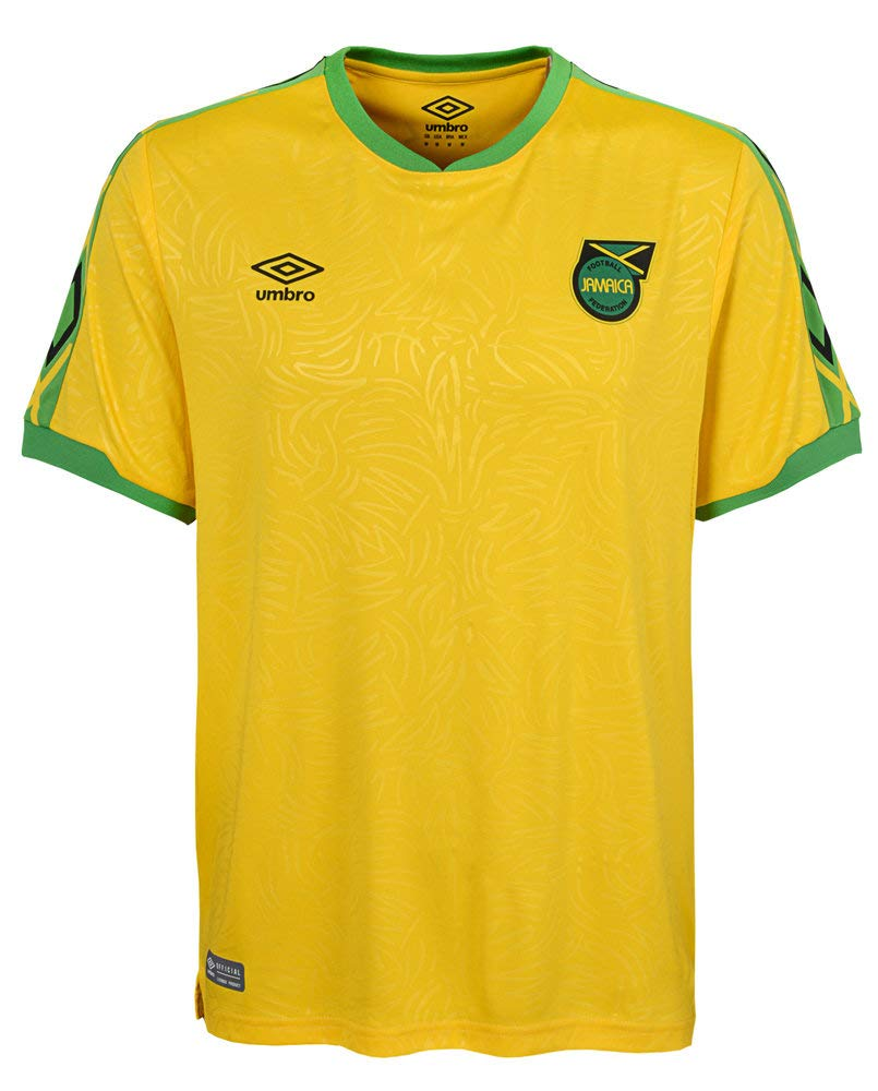 2018-2019 Jamaica Home Umbro Football Shirt B07JL9J1WK Yellow Small - 35-37\