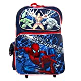 Ruz Spider-Man Blue Web Roller Backpack Bag