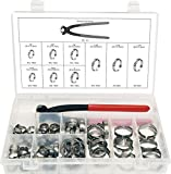 Swordfish 30280 - Stepless 1-Ear Clamp 8 Sizes from 10.8mm-31.6mm and Standard Jaw Pincer Assortment Kit, 81 Pieces