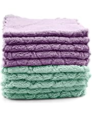 10 Pack Kitchen Cloth Dish Towels, Easy to clean, no lint, easy to absorb water No Odor Reusable Dish Towels Premium Dishcloths, Super Absorbent Coral Velvet Dishtowels, Nonstick Oil Washable Fast Drying super decontamination