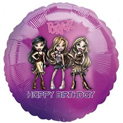 Anagram 18'' Bratz Passion 4 Fashion Happy Birthday Foil Balloon: Home & Kitchen