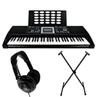 Axus Digital Touch Sensitive Portable Keyboard with Stand and Headphones
