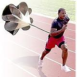 StillCool Running Speed Training Parachute, 56 inch Drills Speed Training Resistance Running Parachute Chute Football Soccer Drilling & Fitness Explosive Power Training(Black)