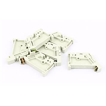 Amazon com: uxcell 6Pcs 35mm DIN Rail Terminal Block End