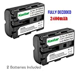 Kastar NP-FM500H Battery (2-Pack) for Sony DSLR-A100/A200/A300/A350/A450/A500/A550/A560/A580/A700/A850/A900 Alpha SLT A57 A58 A65 A65V A77 A77V A77 II A77M2 A99 A99V CLM-V55 Cameras