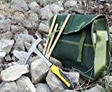 Rockhound & Rock Mining Kit w/Rock Pick Hammer, 3 Chisels, Musette Bag (5-Piece Set)