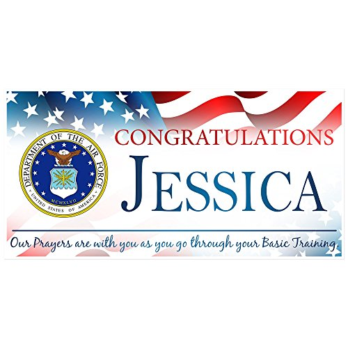 Congratulations U.S. Air Force Armed Forces Military Personalized Banner