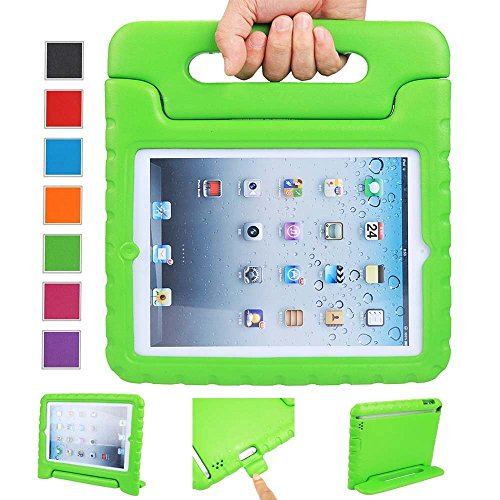 iPad Air 2 Case, Anken Apple iPad Air 2 Case for Kids [Shockproof] Light Weight Super Protection Convertable Cover Handle Stand Case for iPad Air 2 (Green) (Ipad Air Case I Home compare prices)