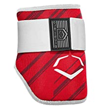 EvoShield MLB Batters Speed Stripe Elbow Guard, Red, Adult
