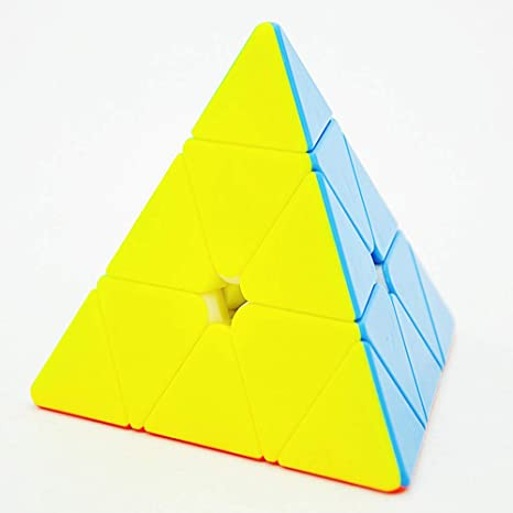 BOOBI Pyramid Stickerless Speed Cube Triangle Magic Cuble Puzzle Toy