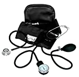 Dixie Ems Blood Pressure and Dual Head Stethoscope Kit (Black)