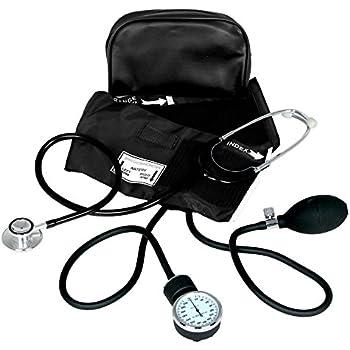 Dixie Ems Blood Pressure and Dual Head Stethoscope Kit (BLACK)