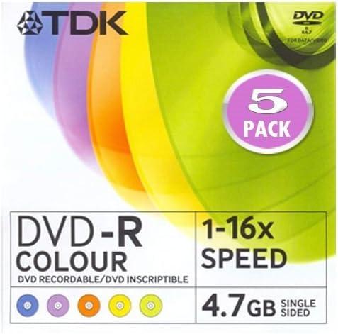 PACK DE 20 DVD-R - TDK 4,7 GB Velocidad 1-16x Caja Slim: Amazon.es: Electrónica