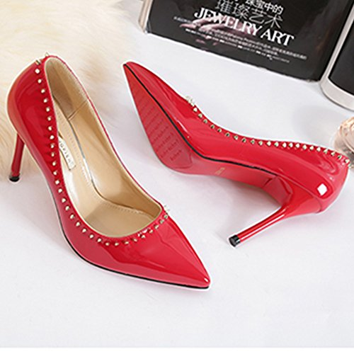 Hoxekle Spring Element Pumps Stiletto Fashion High New Heels Women Shoes Red Sexy gqwUg
