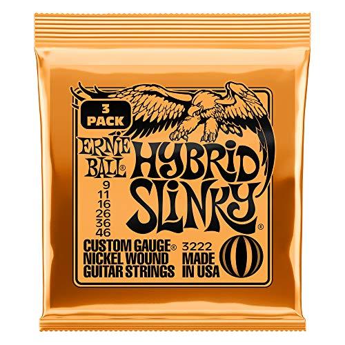 Ernie Ball Hybrid Slinky Nickel Wound Sets, .009 - .046 (3 ()