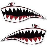 Warhawk Shark Tiger Vinyl Sticker - Car Phone Helmet - SELECT SIZE