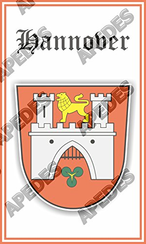Buy now Apedes Hannover Germany Coat Of Arms Computer Tablet Decal Sticker 3x5 inches