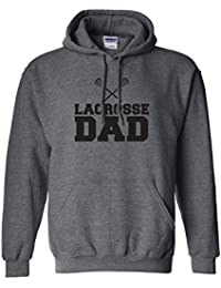 Lacrosse Dad Adult Hooded Sweatshirt in 9 colors