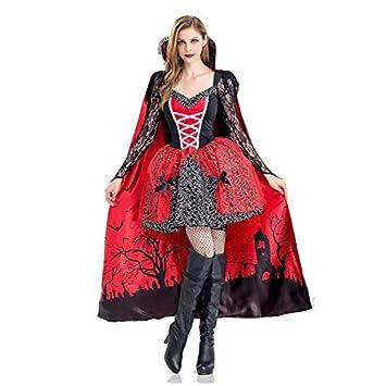 Zygeo - Disfraces de Halloween de Lujo Atractivo Adulto Mujeres Vampiro Victoriano Trajes Vamp del Partido