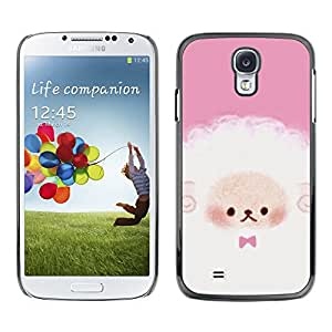 X-ray Impreso colorido protector duro espalda Funda piel de Shell para SAMSUNG Galaxy S4 IV / i9500 / i9515 / i9505G / SGH-i337 - Puppy Cute Pink White Sheep