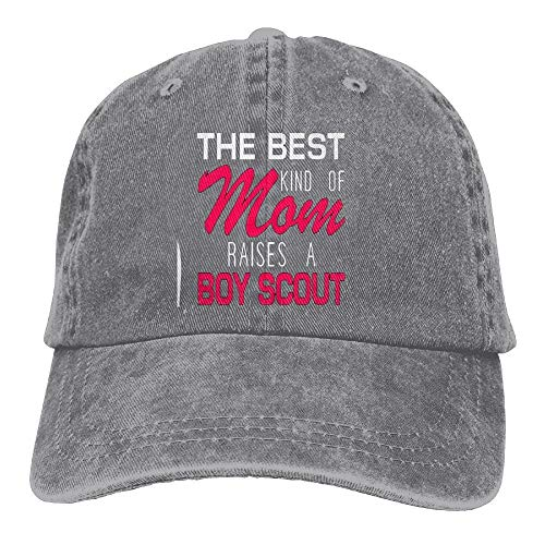 The Best Kind of Mom Raises A Boy Scout Adult Adjustable Printing Cowboy Baseball Hat Ash