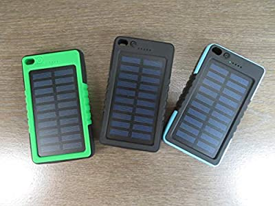 jKelly Trading Solar Rechargeable Portable Universal Battery Pack for Cell Phones or Any USB Device 8000mAh 5V/1A