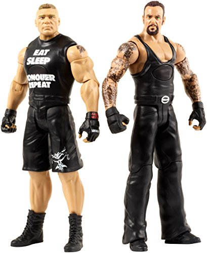 WWE Tough Talkers Undertaker & Brock Lesnar Figure, 6'' by WWE