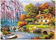 Outeck Puzzles for Adults 1000 Piece Large Puzzle, Vintage Paintings Landscape Jigsaw Puzzle